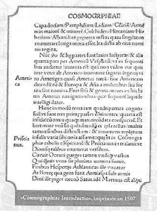 500ème anniversaire du baptême de l\'Amérique.